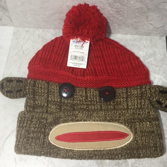 NWT Sock monkey winter hat adult size 19f176c0c8c4